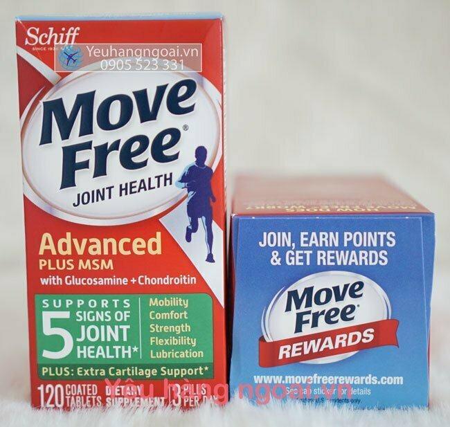 Move Free 120v Glucosamine Chondroitin Msm Mỹ