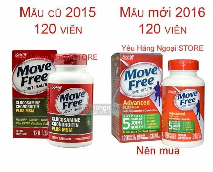 Move Free 120v Glucosamine Chondroitin Msm Mau Moi Nhat