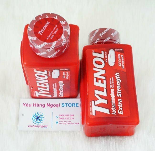 Tylenol Extra Strength With Acetaminophen 325 Viên (mỹ).