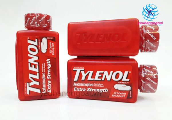 Hình Thật Tylenol Extra Strength 500mg 325 Viên