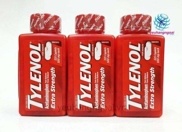 Hình Thật Mặt Trước Tylenol Extra Strength 500mg 325 Viên