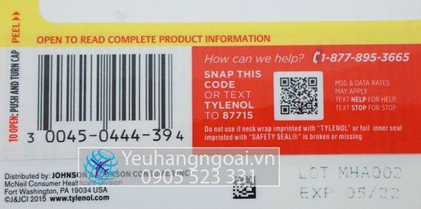 Mã Vạch và Hạn Sử Dụng Tylenol