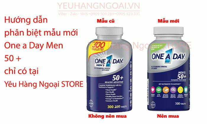One A Day Men's Health Formula 300 ViÊn (mỸ) DÀnh Cho Nam GiỚi DƯỚi 50 TuỔi113