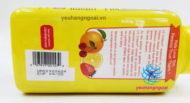Hạn Sử Dụng Và Mã Vạch Kẹo Dẻo Gummy Canxi + Vitamin D3 Bổ Sung Canxi