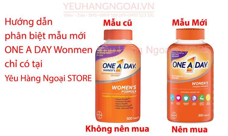 Multivitamine One A Day Women's Health Formula 300 ViÊn (mỸ) DÀnh Cho NỮ GiỚi DƯỚi 50 TuỔi.