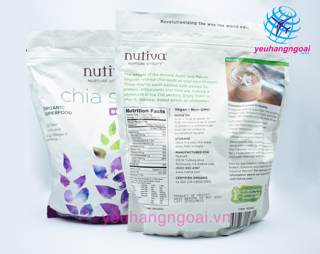 Hạt Chia Nutiva Organic Cua My