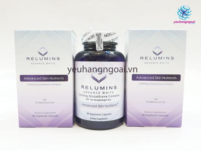 Hình Thật Viên Uống Trắng Da Relumins