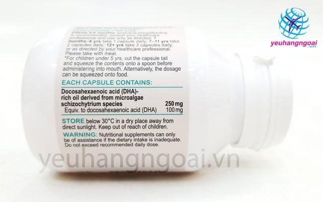 Hình Thật Thành Phần Viên Uống Dha Cho Trẻ Của Úc