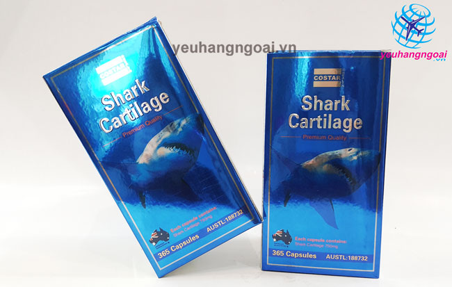 Shark Cartilage Costar 750mg 365 Viên Úc