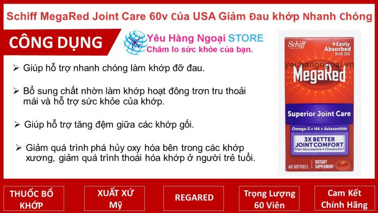 Schiff Megared Joint Care Hộp 60 Viên Của Usa