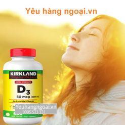 Vitamin D3 2000 IU Kirkland Signature mau moi