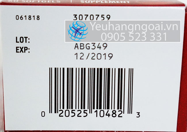 ma vach Schiff MegaRed Joint Care hộp 60 viên