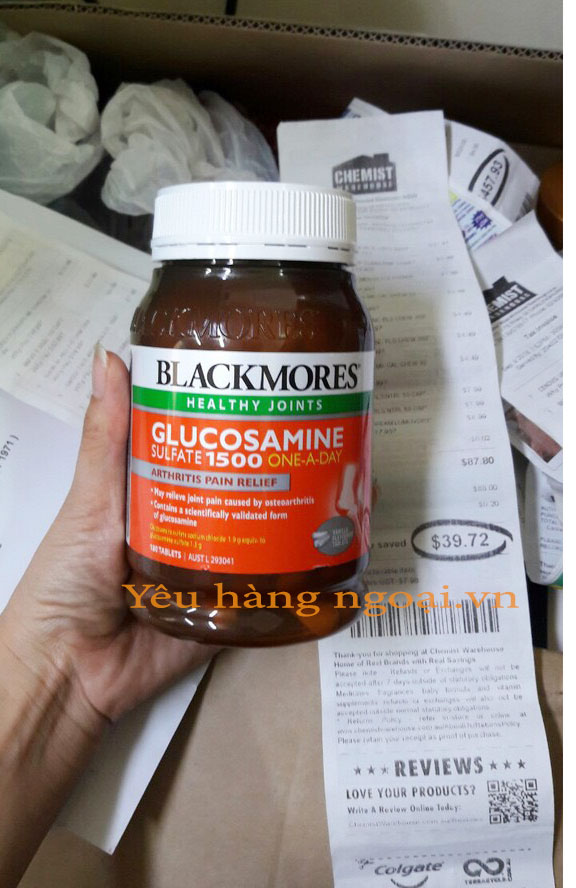 Hoa Don Blackmores Glucosamine Sulfate 1500 One A Day 180v