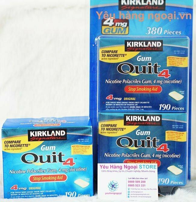 Kẹo Cai Thuốc Lá Kirkland Gum Quit4™ 4mg