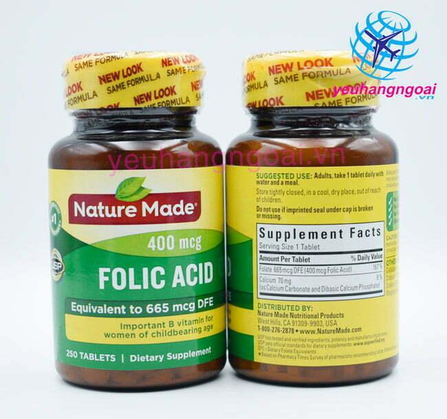 Viên Uống Bổ Sung Folic Acid 400mcg1