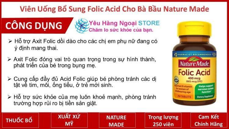 Xong Viên Uống Bổ Sung Folic Acid
