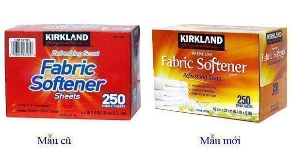 Giấy Thơm Quần Áo Kirkland Fabric Softener Của Mỹ 250 tờ