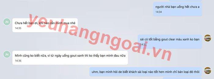 phan hoi khach sai gout clear