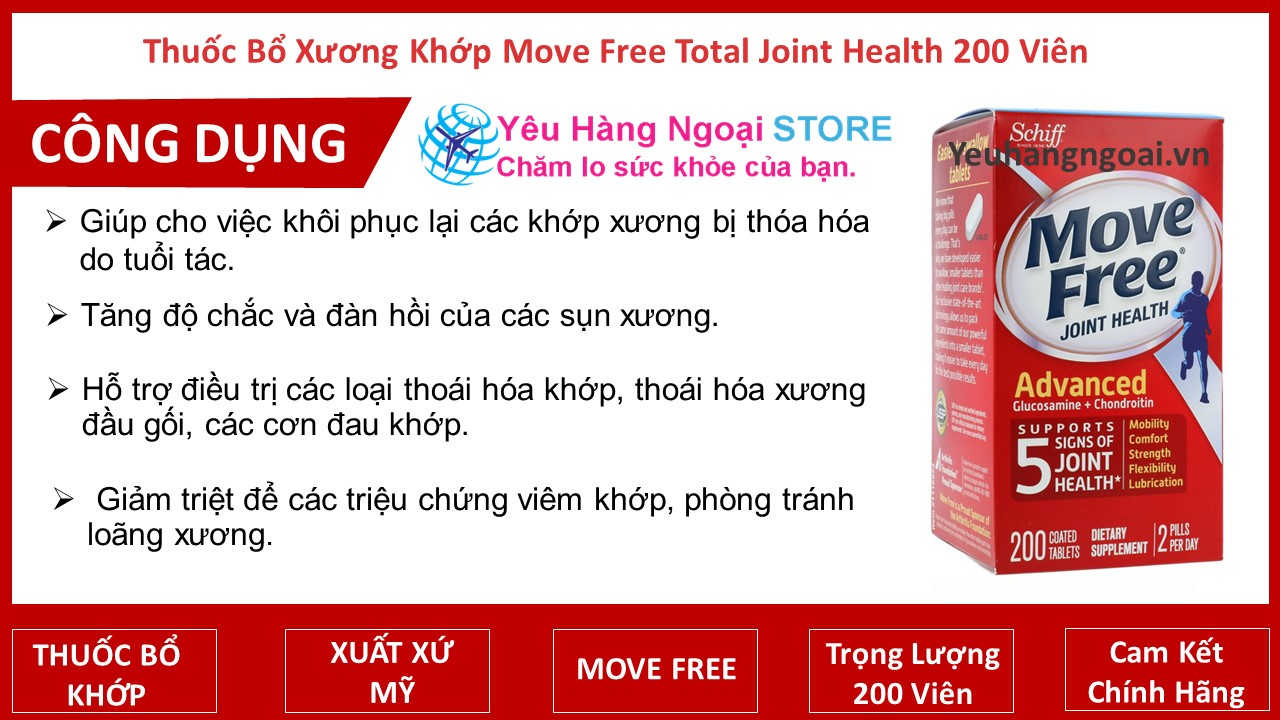 Move Free Total Joint Health 200 viên