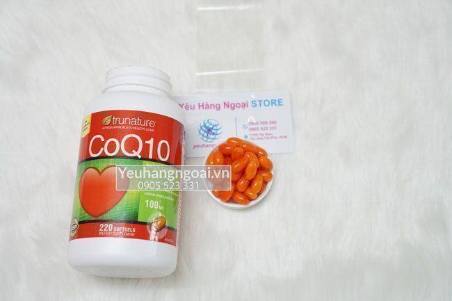 viên uống Thuốc bổ tim mạch Trunature® CoQ10 100mg 220 viên của Mỹ