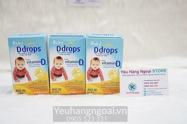 Baby Ddrops cung cấp 400 IU vitamin D cho bé