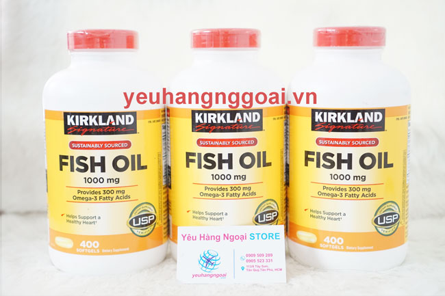 Fish oil 1000mg Kirkland Signature