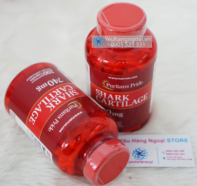 Sụn Vi Cá Mập Shark Cartilage 740mg Puritan's Prid