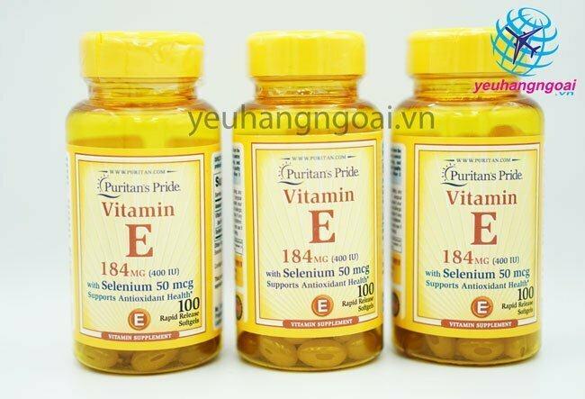 Hình Vitamin E 400 Iu With Selenium 50mcg Puritan's Pride