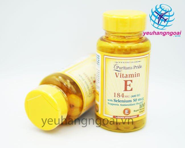 Hình Vitamin E 400 Iu With Selenium 50mcg Puritan's Pride12