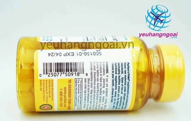 Hình Mã Vạch Vitamin E 400 Iu With Selenium 50mcg Puritan's Pride
