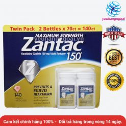 Maximum Strength Zantac Ranitidine 150mg Của Mỹ