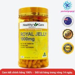 Royal Jelly 1000mg 365 Viên Của Healthy Care
