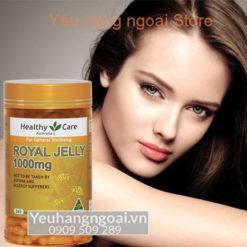 Sữa Ong Chúa Royal Jelly 1000mg Của Healthy Care Úc
