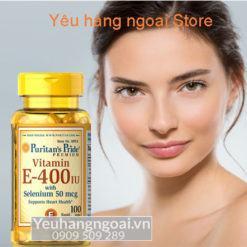 Vitamin E 400 Iu With Selenium 50mcg 100 Viên Của Puritan's Pride