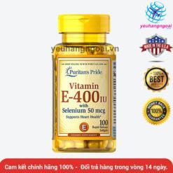 Vitamin E Thiên Nhiên 400 Iu With Selenium 50mcg