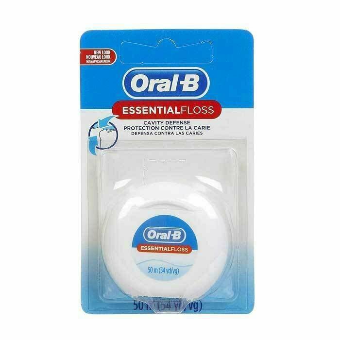 Chỉ Nha Khoa Oral B Essential Floss 50m Của Mỹ Làm Sạch Sâu Kẽ Răng, Ngừa Sâu Răng