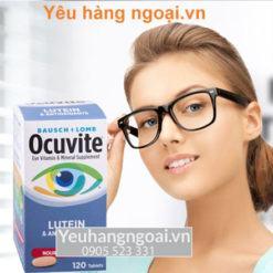 Viên Uống Bổ Mắt Ocuvite Lutein 120 viên của Mỹ dành cho người dưới 50 tuổi (cao cấp)
