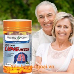 Viên uống thải độc phổi Original LUNG Detox 180v cuả Healthy Care - Úc