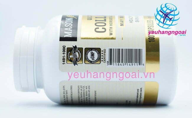 Viên Uống đẹp Da Ultra Collagen Mason Natural 100 Viên Của Mỹ4