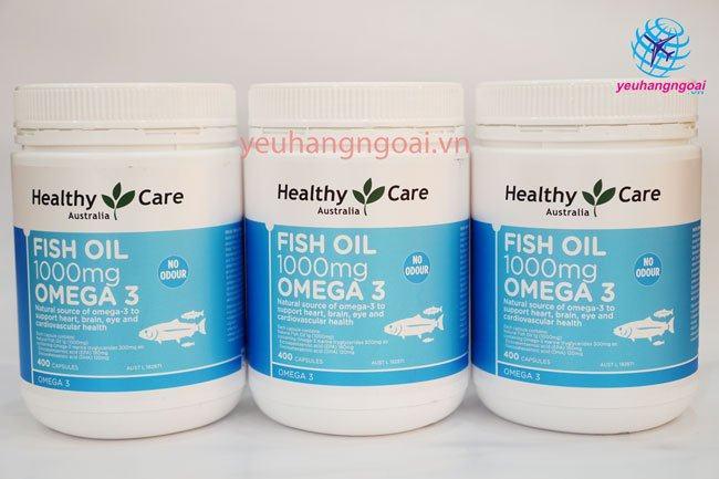 Hình Thật Fish Oil Healthy Care Omega 3 1000mg Tại Shop