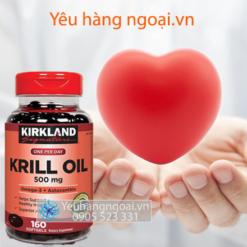 Dầu Nhuyễn Thể ( Dầu Tôm ) Krill Oil Kirkland 500mg 160 Viên Của Mỹ
