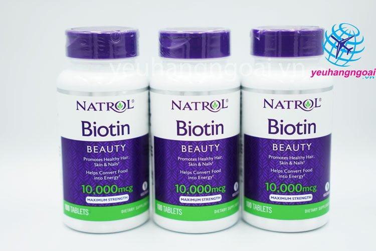 Natrol Biotin 10000 Mcg Hỗ Trợ Mọc Tóc