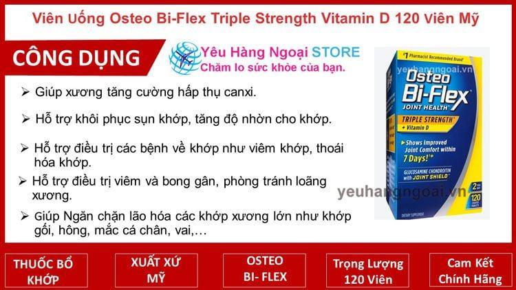 Osteo Bi-Flex Triple Strength Vitamin D – Trị Viêm Khớp, Loãng Xương 120 viên