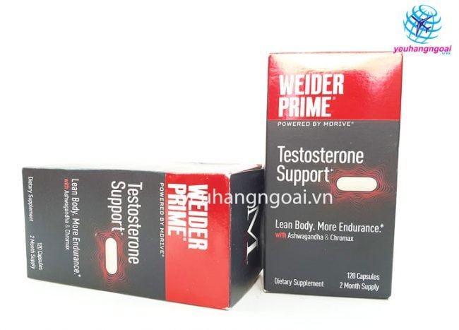 Hình Thật Viên Uống Weider Prime Healthy Testosterone For Men