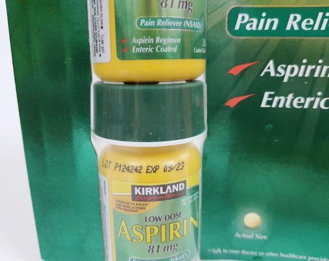 Hình Thật Hạn Sử Dụng Viên Uống Aspirin 81mg Low Dose Kirklan