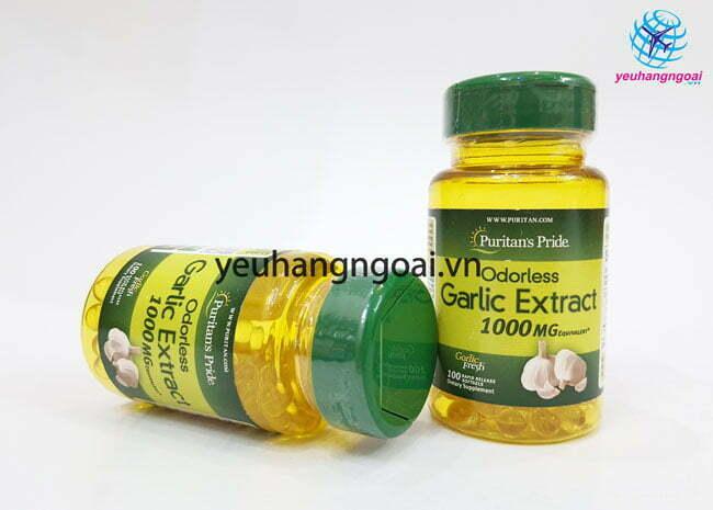 Hình Thật Mặt Trước Odorless Garlic Extract 1.000mg 100 Viên
