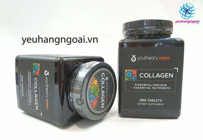 Hình Thật Mặt Trước Collagen Men 290 Viên