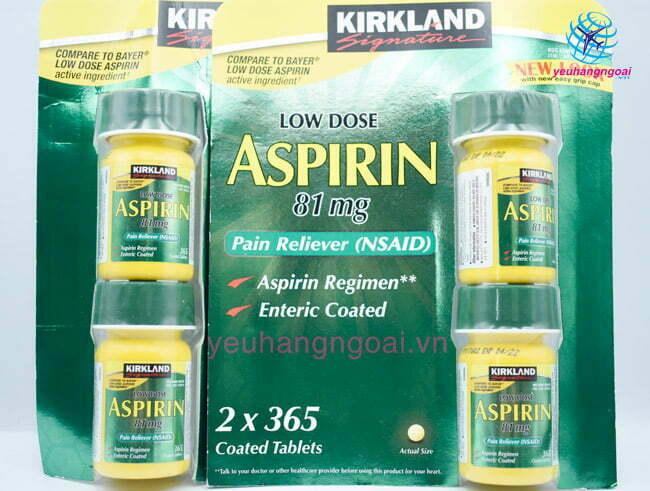 Viên Uống Aspirin 81mg Low Dose Kirklan
