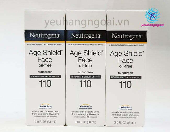 Kem chống nắng Neutrogina Age Shield Face SPF 110