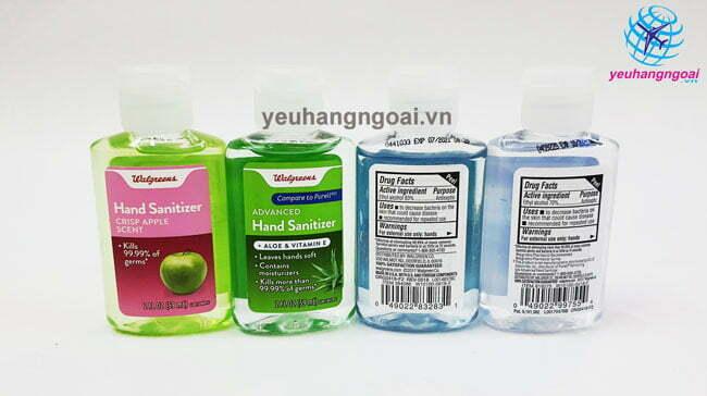 Hình Mặt Trước Sau Hand Sanitizer 59ml Của Mỹ.